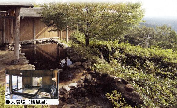 霧島の絶景の露天風呂